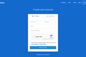 Coinbase - rejestracja