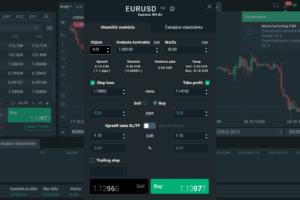 Zadávanie transakcie v platforme brokera