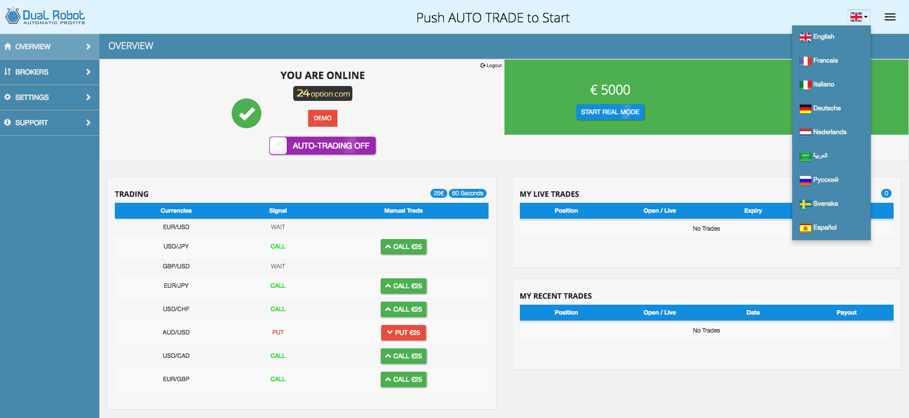 Plug and trading in binary options free bonus