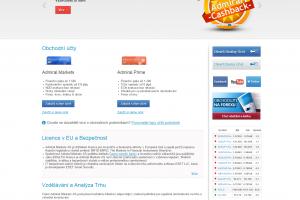 Admiral Markets - webová stránka brokera
