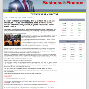 Web Business&Finance a Pavel Knapec