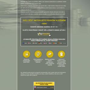 Dokončení registrace na webu ProfitOnline a spojení s EZTrader