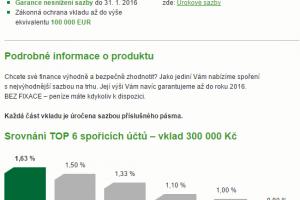 Fér spoření - Sberbank - podmínky