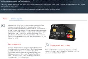FxPro MasterCard