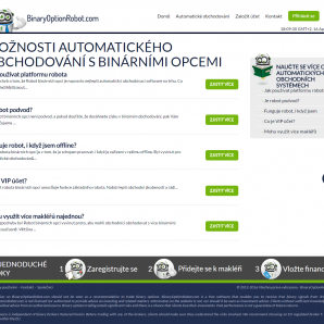 Informace k platformě Binary Option Robot