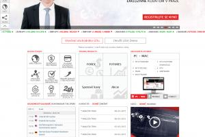 IronFX webová stránka brokera