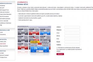 Patria - demo účet