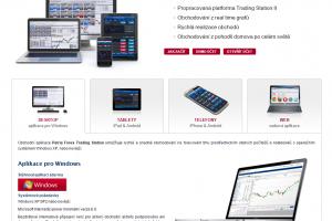 Patria Forex - obchodní platformy