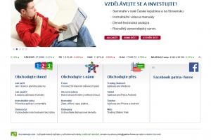 Patria Forex - webová stránka