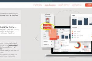 Princi sociálního tradingu popsaný na webu platformy