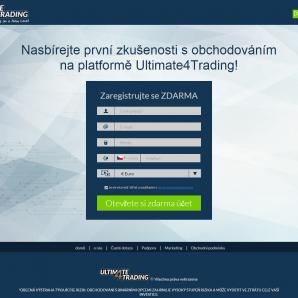 Registrační formulář Ultimate4trading
