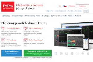 Webová stránka brokera FxPro.com