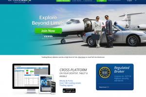 Webová stránka brokera OptionsClick