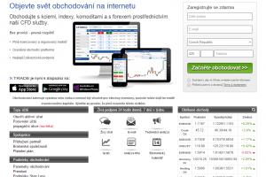Webová stránka brokera xForex.com