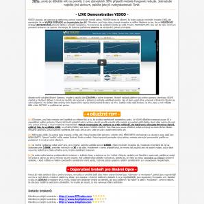 Webová stránka na níž Andrew Lloyd z JC Investing Ltd popisuje