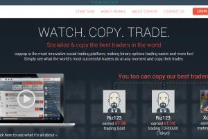 Webová stránka platformy CopyOP