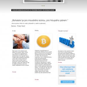 Webová stránka projektu Procoin