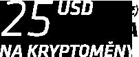 25 USD zdarma na kryptoměny