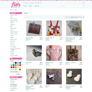 Handmade výrobky prodáte například na tržišti FLER.cz