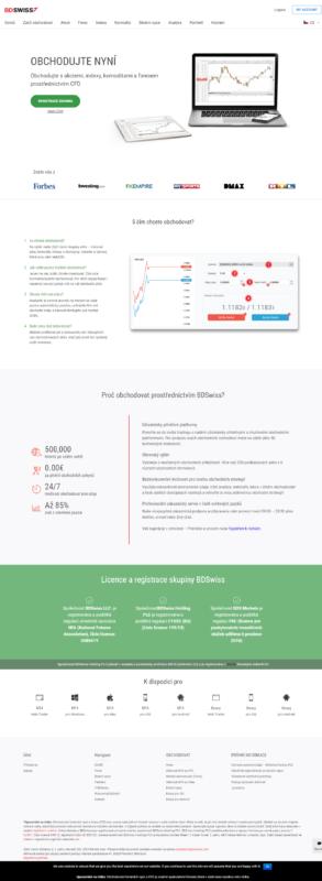 Web brokera BD Swiss je v češtině