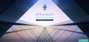 Oficiální web projektu Ethereum