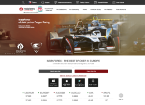 Oficiální web brokera Instaforex