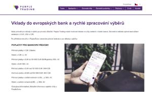 Poplatky pro bankovní převody