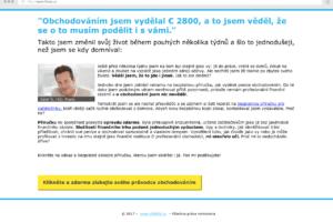 Pochybná reklama na webu brokera iForex
