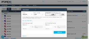 Zadávání transakce na platformě iForex
