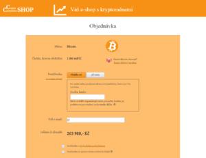 Návod - nákup kryptoměn u ccShop.cz