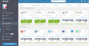 Srovnání - Mezi forex brokery patří například eToro