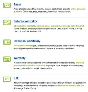 Akcie a další aktiva, do kterých lze u brokera investovat