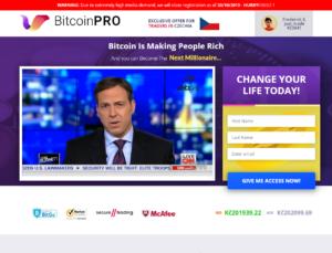 Homepage webu Bitcoin Pro