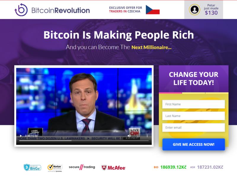 Bitcoin Revolution je podvod