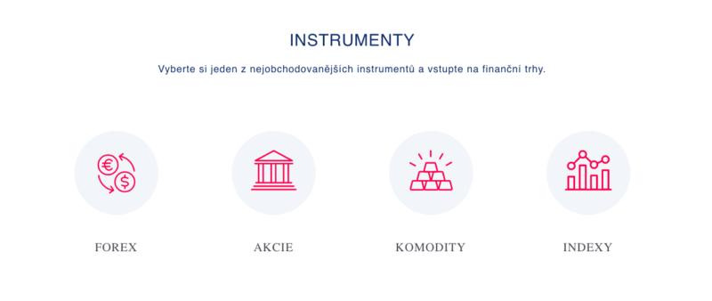 Instrumenty dostupné u CFD World