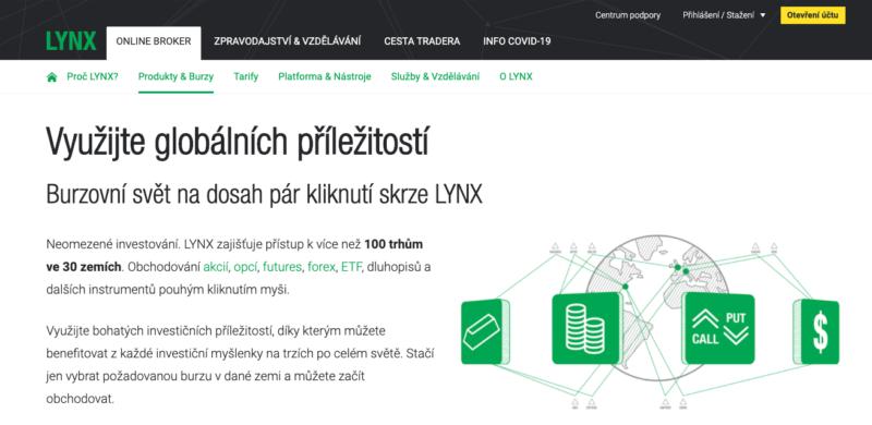 U LYNX jsou futures dostupné s minimálním vkladem 100 000 Kč