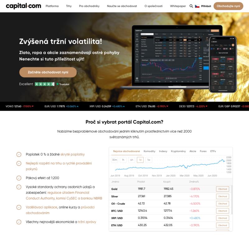 Web brokera Capital.com