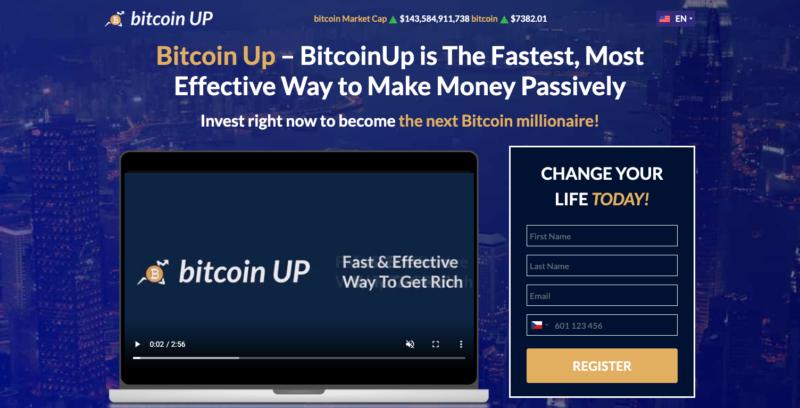 Webová stránka Bitcoin UP