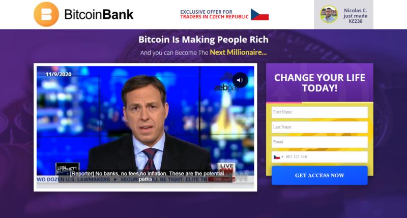 Investiční platforma Bitcoin Bank