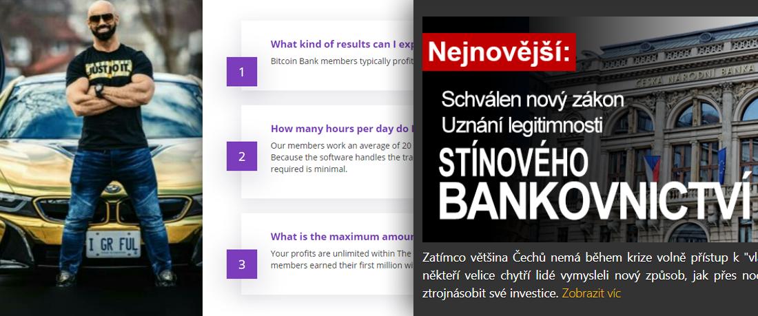 PODVOD: Bitcoin Bank a Bitcoin Trader recenze
