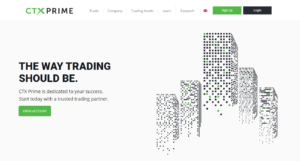 Webová stránka brokera CTX Prime