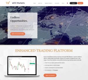 Webová stránka WDCMarkets