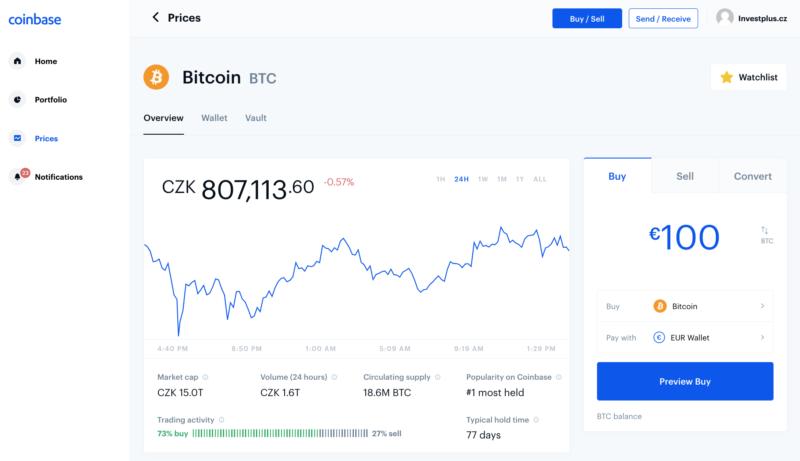Směnárna Coinbase
