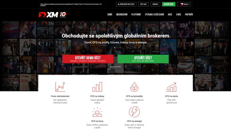 Web brokera XM