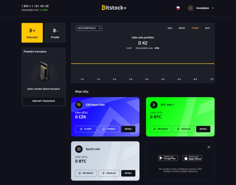 Webová platforma Bitstock+