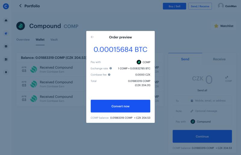 Získané kryptoměny můžete například směnit za Bitcoin