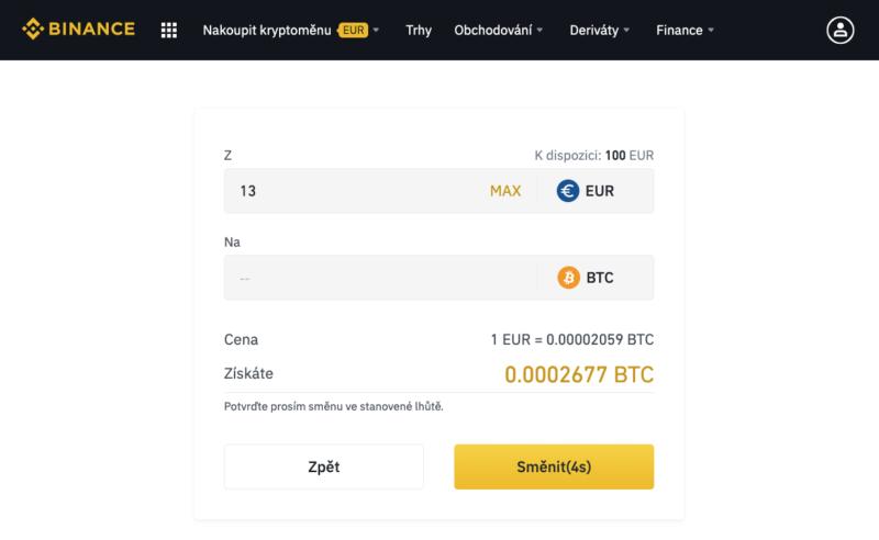 Nastavení objednávky na základní platformě