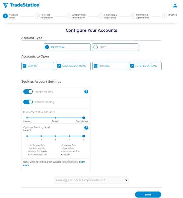 Konfigurace obchodního účtu